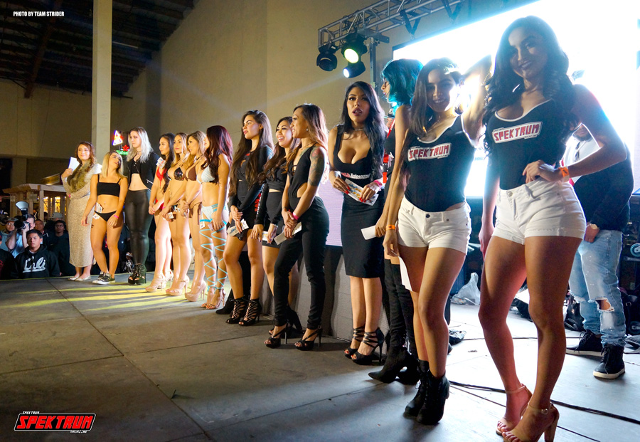 The entire lineup of models for the Miss HIN contest
