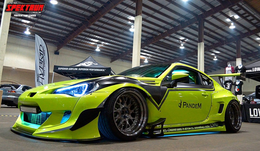Awesome FR-S inside the hangar at Hot Import Nights