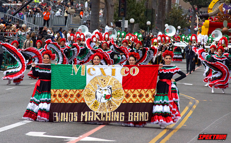 Marching band all the way from Mexico