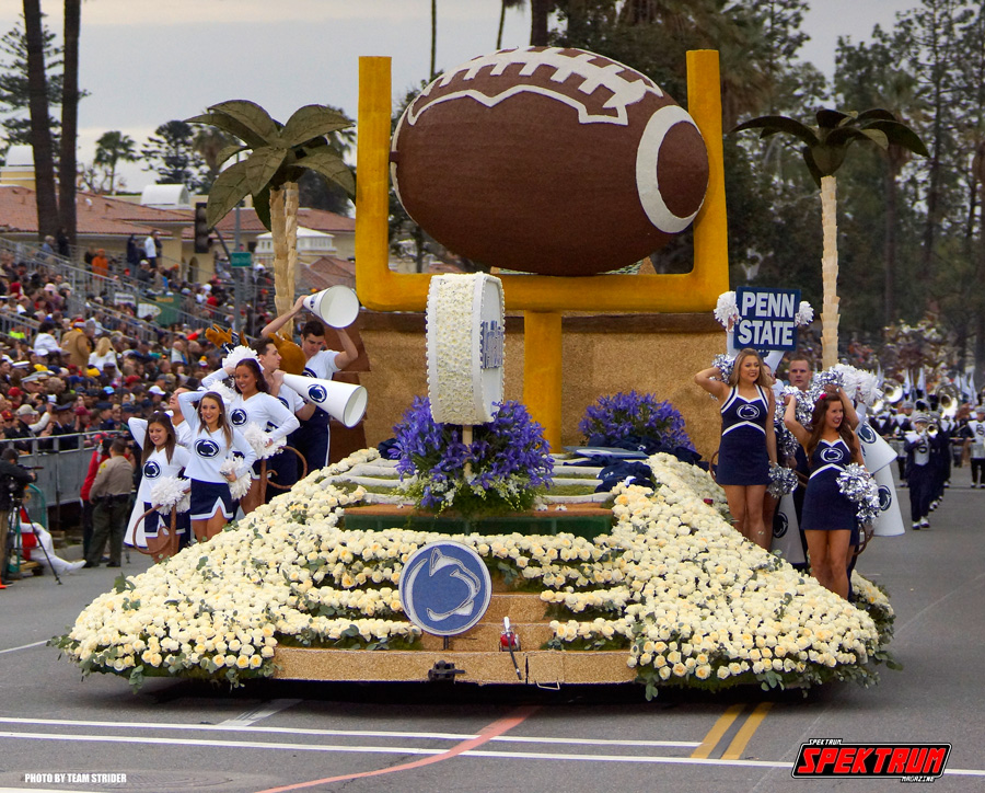 The other half of the Rose Bowl, the Penn State parade float