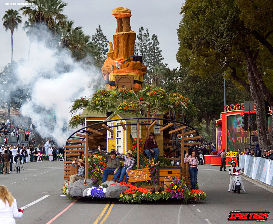 Awesome Gold Rush themed float