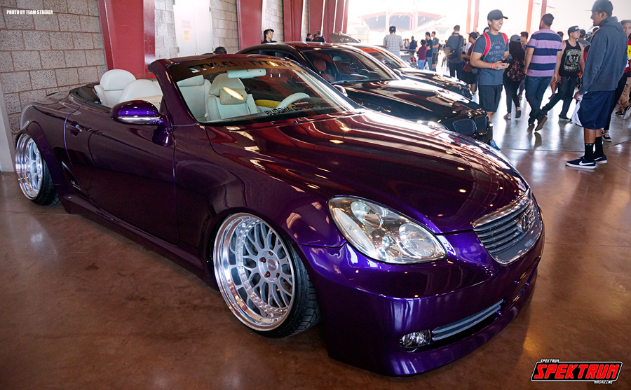 Slammed SC430 sitting in the main hall