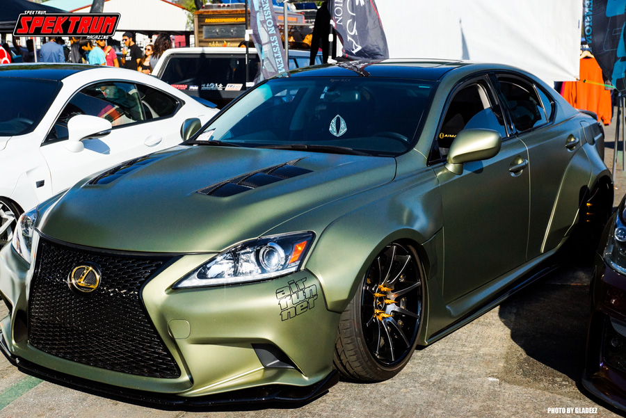 Wide-bodied Lexus looking great in Olive