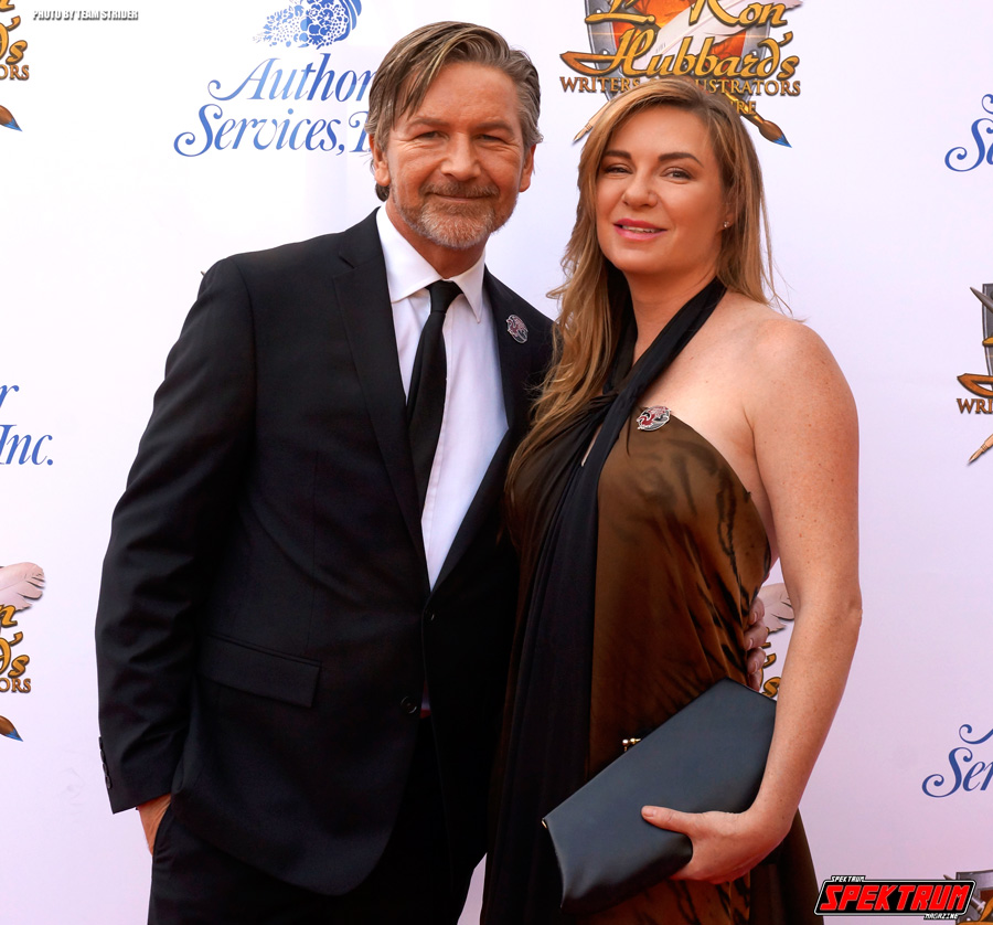 Lovely couple on the red carpet of the L.Ron Hubbard Writers & Illustrators of the Future