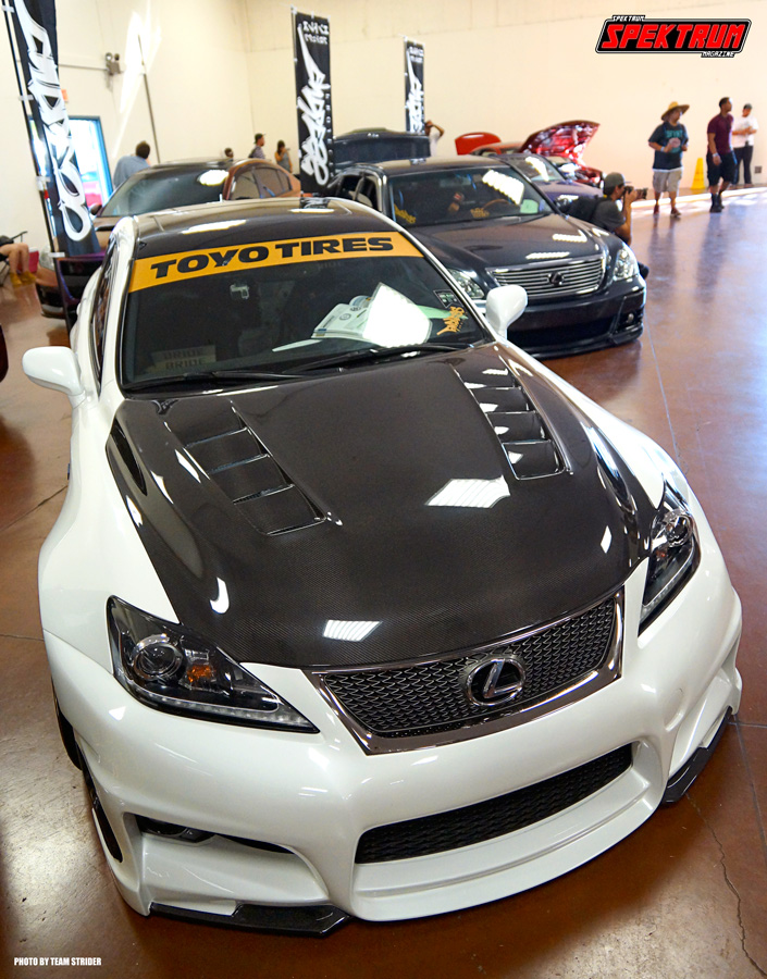 Lexus with some nice carbon fiber pieces
