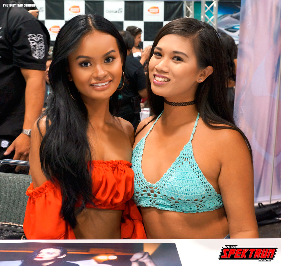 Two beautiful ladies from the model lounge