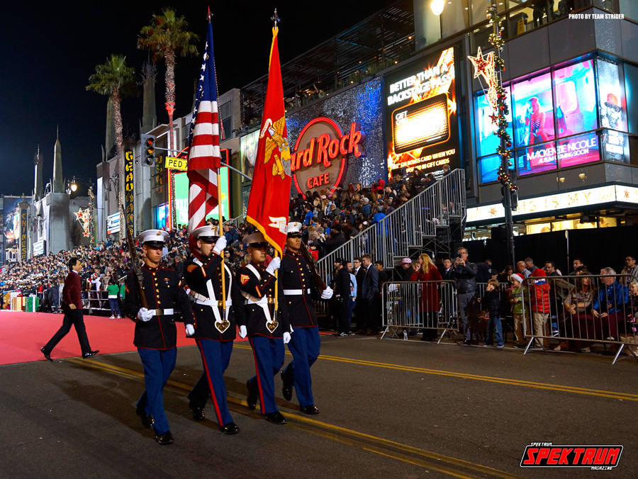 The US Marines starting the parade off