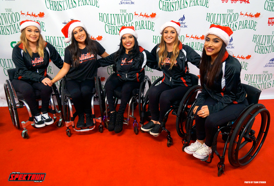 The Rollettes Wheelchair Dance Troupe on the red carpet