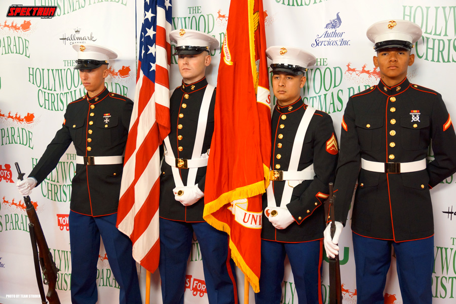 Making the US Marines proud on the red carpet