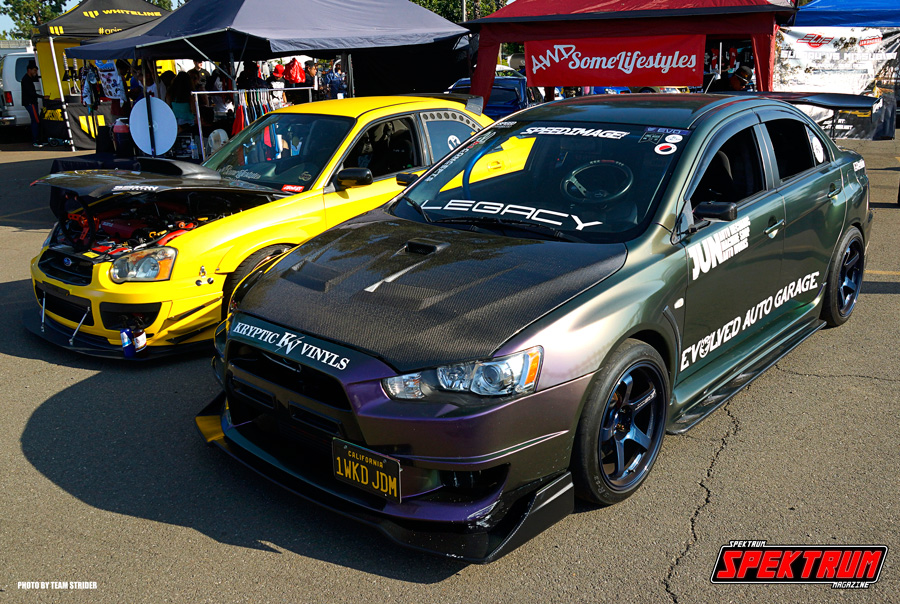 Sweet EvoX and STI representing AWDSome Lifestyles