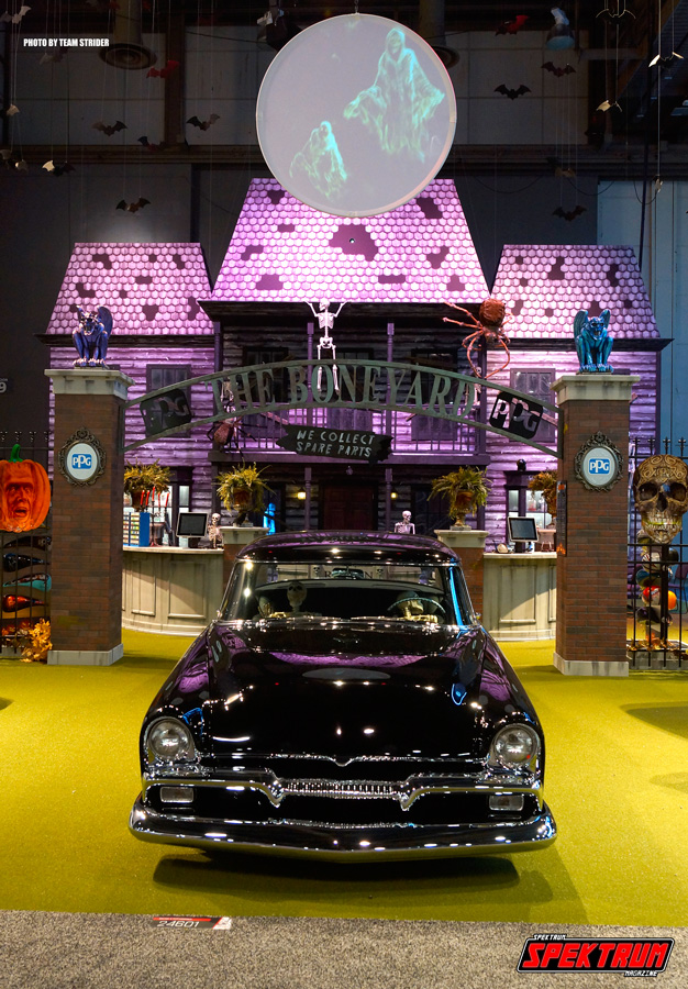 PPG Paints had this Halloween-themed booth going on. Very cool
