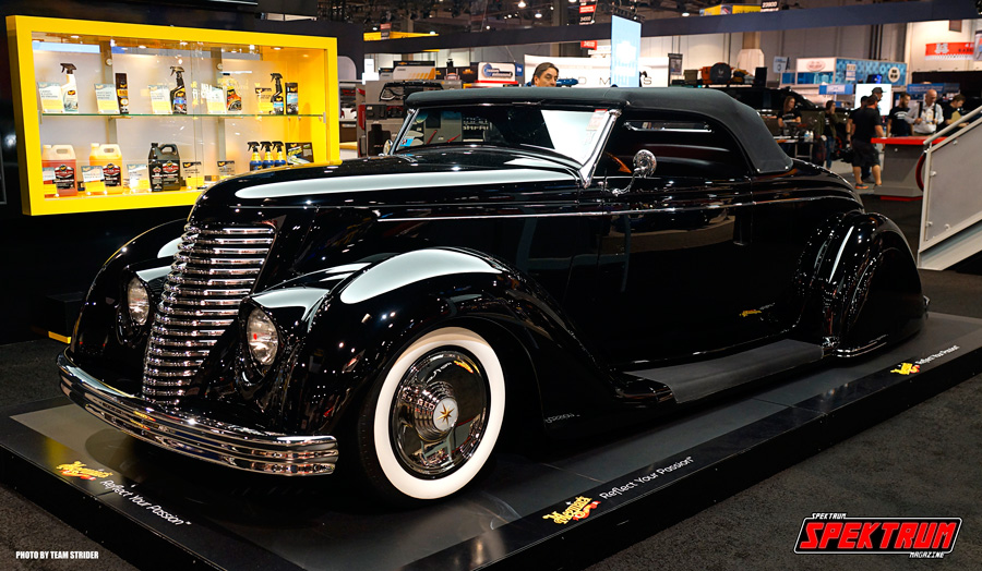 The beautiful 1936 Ford roadster at the Meguire's booth