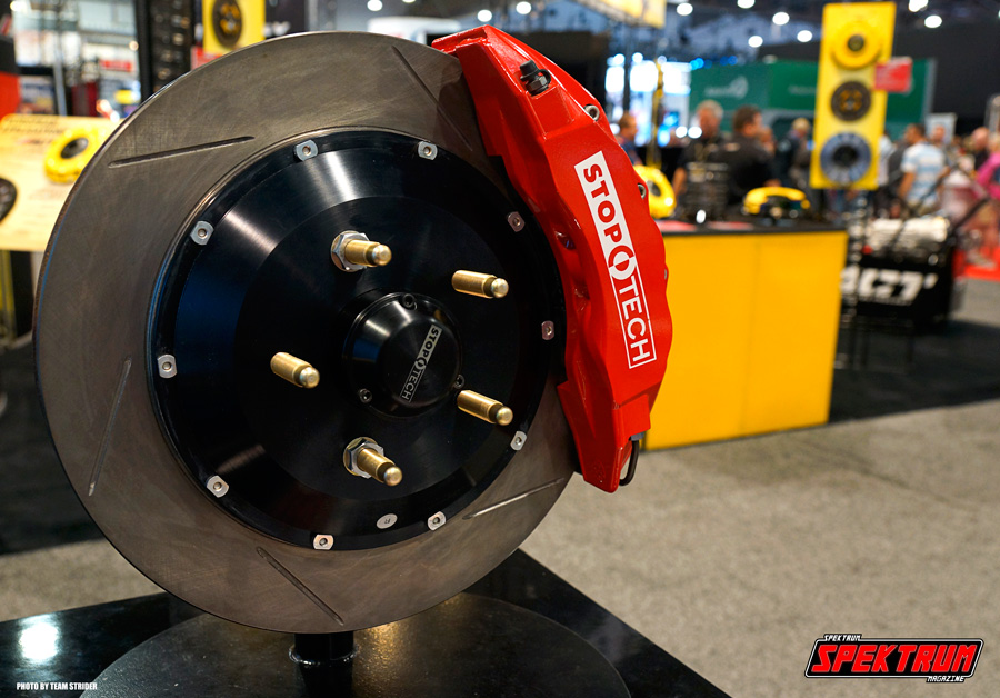 Stoptech Brakes showing off their nuts and bolts