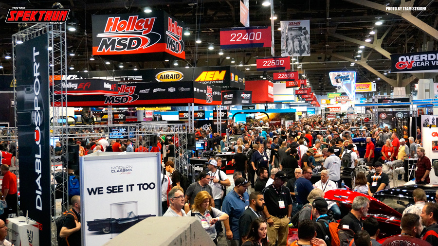 The crowds at SEMA everyday at all hours
