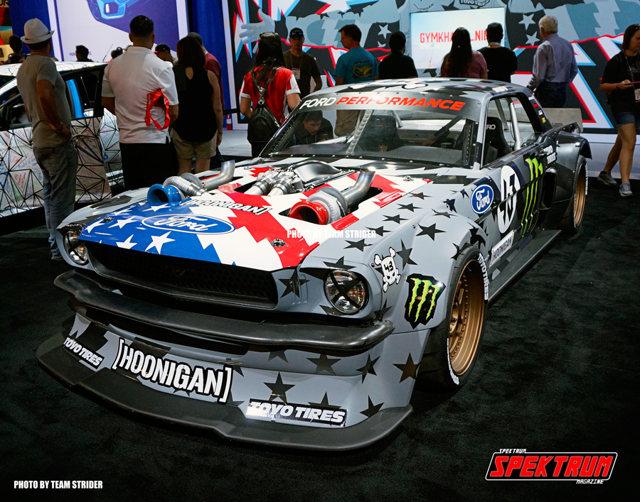 The sweet turbo'd Mustang by Ken Block was at the Ford booth