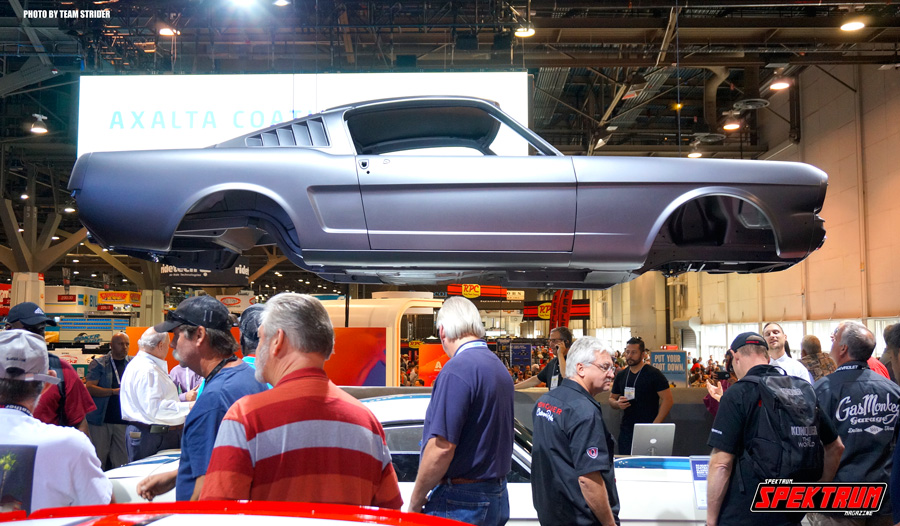 At the Ford booth there was this Mustang body floating above it