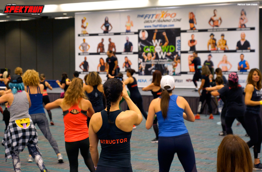 Working up a sweat at The Fit Expo LA 2018