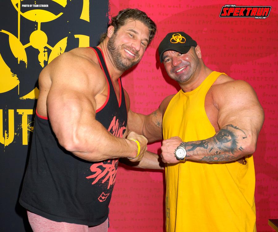 The big guys at Mutant Nutrition flexing their guns