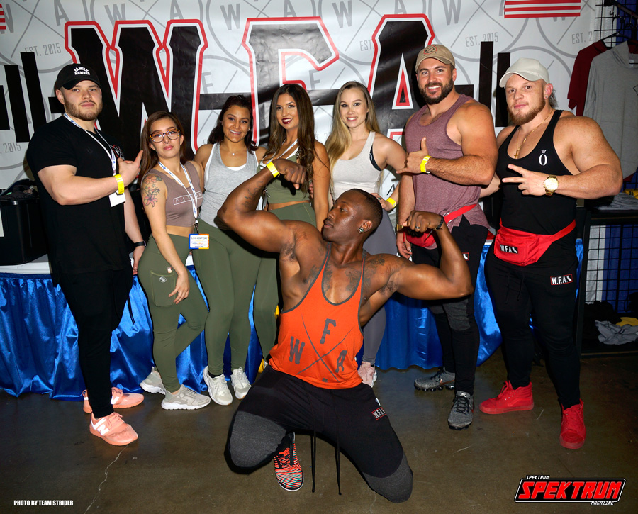 Our friends at Wholesale Fitness Apparel flexin' at The Fit Expo LA 2018