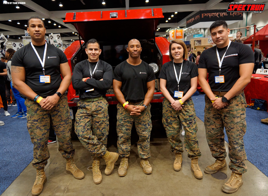Kickin' it with the US Marines at The Fit Expo