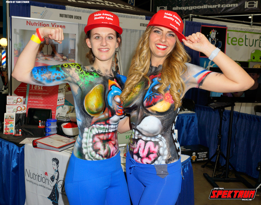 Our awesome new friends at The Nutrition Vixen booth. The Nutrition Vixen herself is on the right