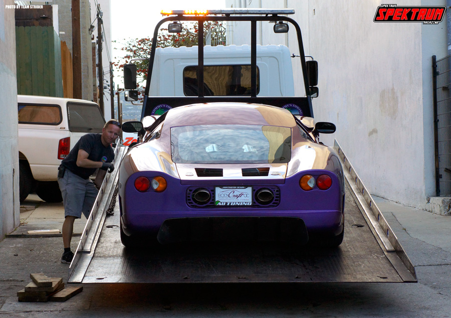 Dropping off this rare supercar at HIN